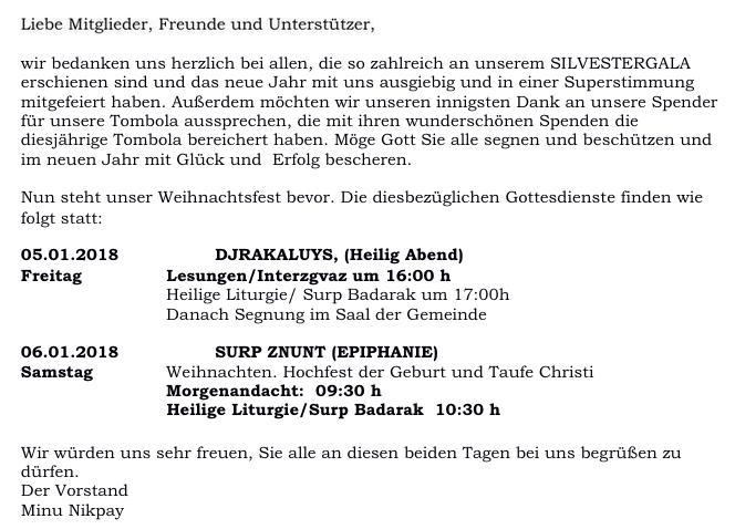 Armenische Gemeinde Köln | Քէօլնի Հայ Համայնք